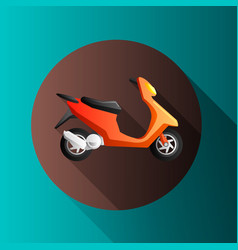 Flat design moto icons vector