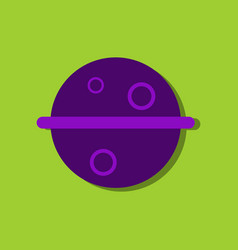 Flat icon design collection space planet in vector