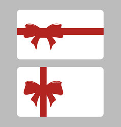 gift card with ribbon set design vector image