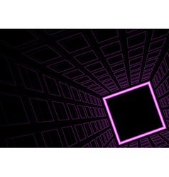 Glowing Neon Square Background vector