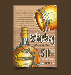 Handcrafted whiskey advertising banner vector
