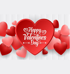 happy valentines day background with bright vector image