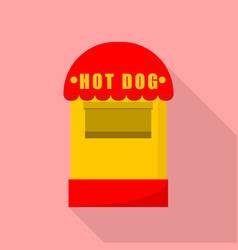 hot dog small shop icon flat style vector image
