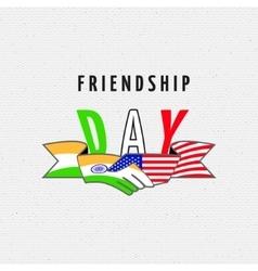India America Friendship vector