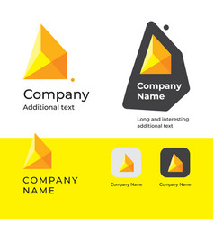 Isometric abstract modern logo design and vector