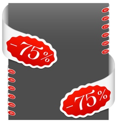left and right side signs discount percents vector image vector image