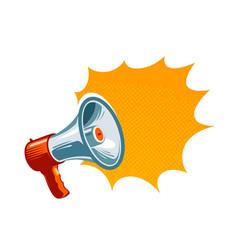 Loudspeaker megaphone bullhorn icon or symbol vector