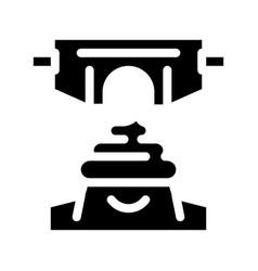 Meconium newborn feces icon glyph vector