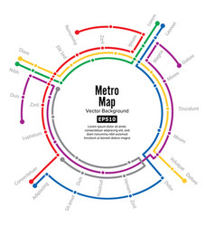 metro map plan map station metro and vector image