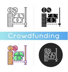 microcredit icon vector image