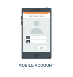 Mobile account concept design vector
