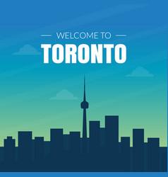 modern toronto canada city skyline banner vector image