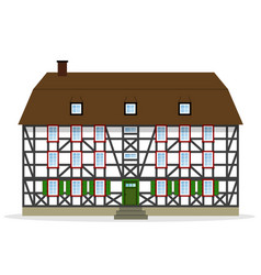 Nice half-timbered house vector