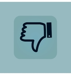Pale blue dislike icon vector