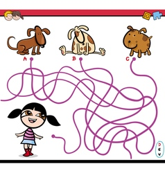 Path maze activity cartoon vector