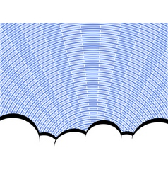 Radial sky vector