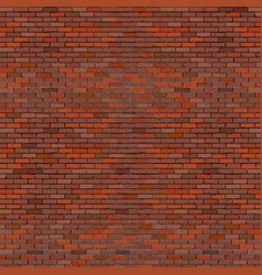 realistic brick wall red vector image