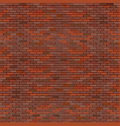 Realistic brick wall red vector