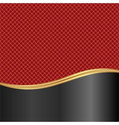 Red and black background with braid texture vector