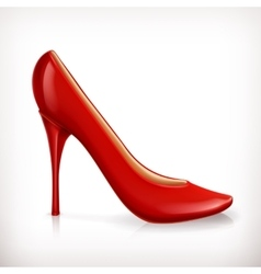 Red high heel women shoe vector