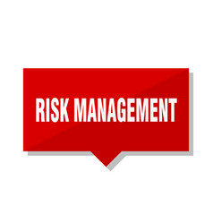 Risk management red tag vector