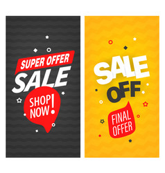 sale off banners collection vector image