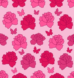 Seamless texture with flowers roses and vector