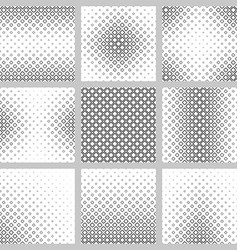 Set of nine monochrome square pattern backgrounds vector