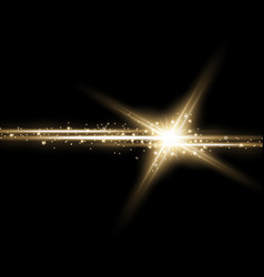 Shining star with a stardust golden color vector