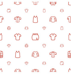 Shirt icons pattern seamless white background vector