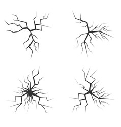 simple cracks vector image