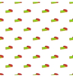 Small square stadium pattern cartoon style vector