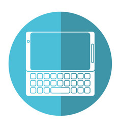 Smartphone mobile technology keyboard image vector