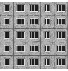 soviet architecture grey unified house pattern vector image