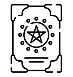 spellbook line vector image