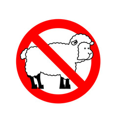Stop sheep ban ewe attention farm is an animal vector