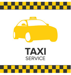 taxi icon taxi service taxi car white background vector image