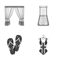 Textiles business medicine and other monochrome vector
