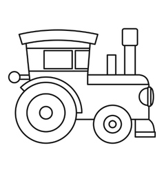 Train locomotive toy icon outline style vector image