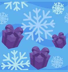 winter giftes seamless pattern vector image