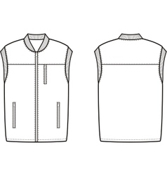 Work winter vest vector