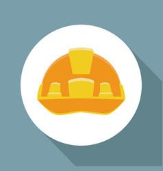 Worker security helmet ilustration icon vector
