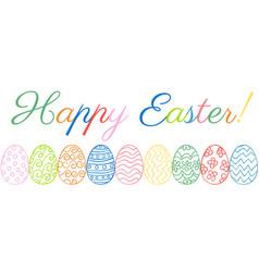 easter eggs border vector image