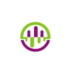 music beat abstract logo vector image