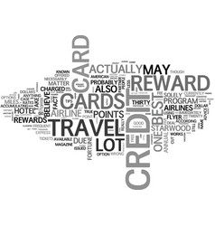 best travel reward credit card bets text word vector image vector image