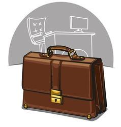 brown luxury briefcase vector image vector image