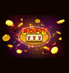 jackpot lucky wins golden slot machine casino vector image