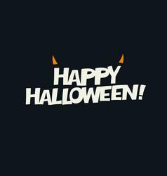 Logotype design horns added abstract halloween vector