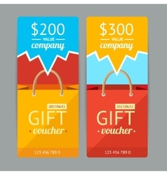Modern Gift Voucher with Paper Bag vector image vector image