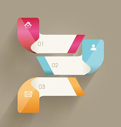 Modern minimalistic infographics banner vector image vector image